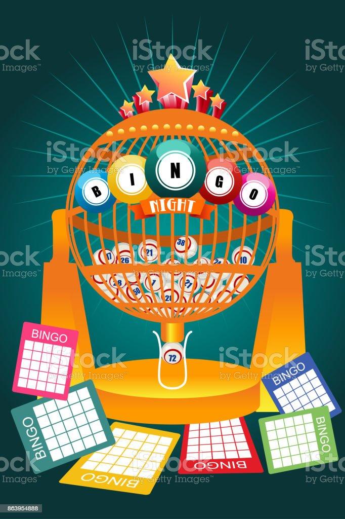 Bingo Night Game Poster vector art illustration