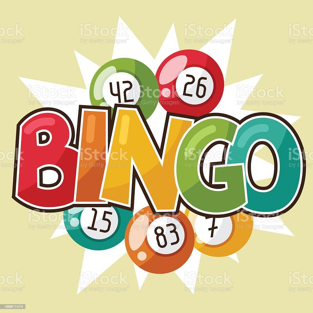 Loteria jogo de Bingo ou retrô ilustração com bolas - ilustração de arte em vetor