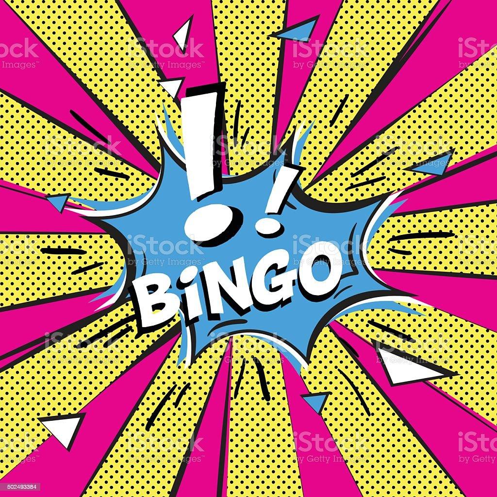 Bingo Arte Pop estilo - ilustración de arte vectorial