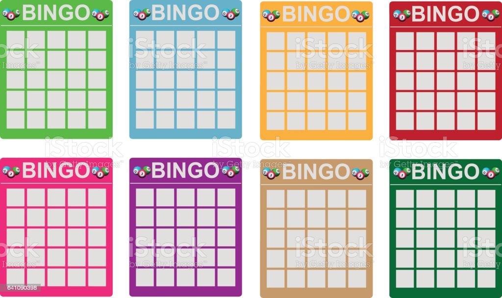 Bilhetes de bingo - ilustração de arte em vetor