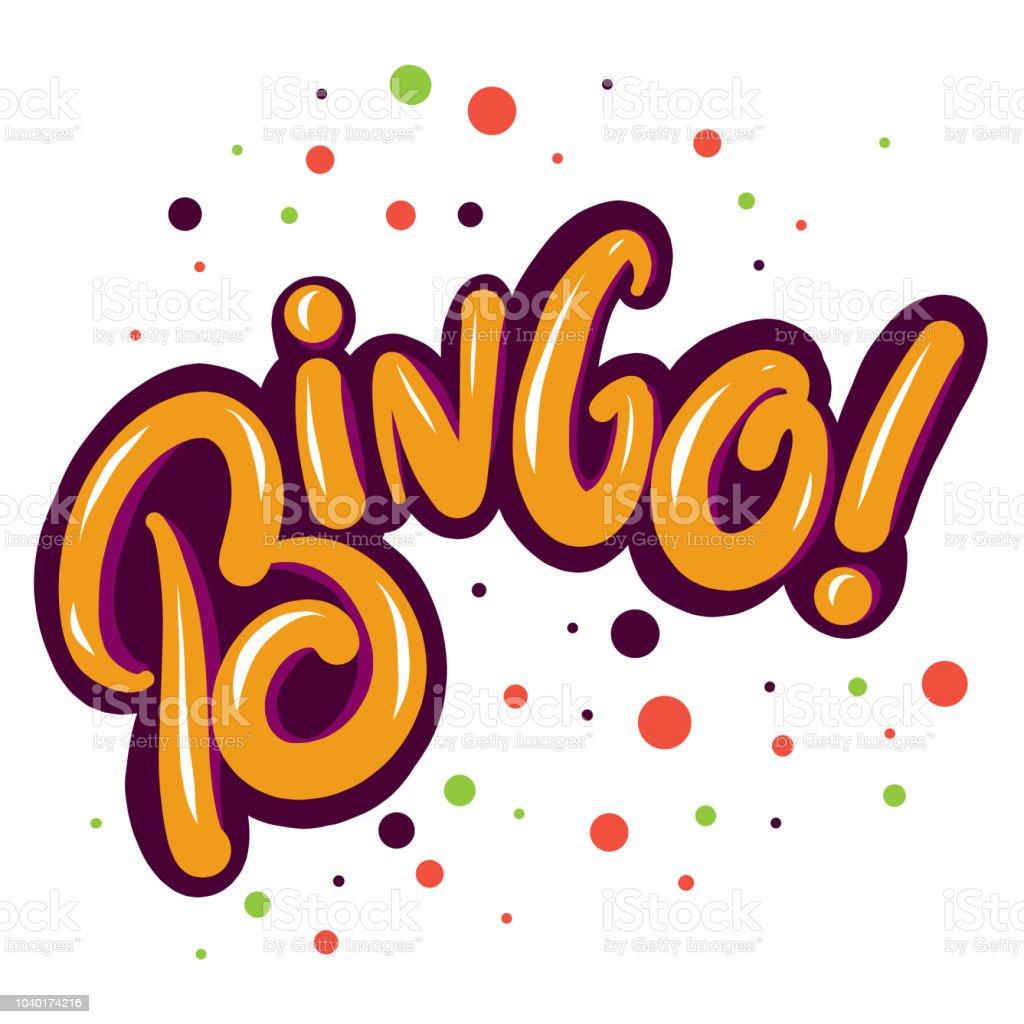 Letras de Vector de bingo en el fondo. - ilustración de arte vectorial