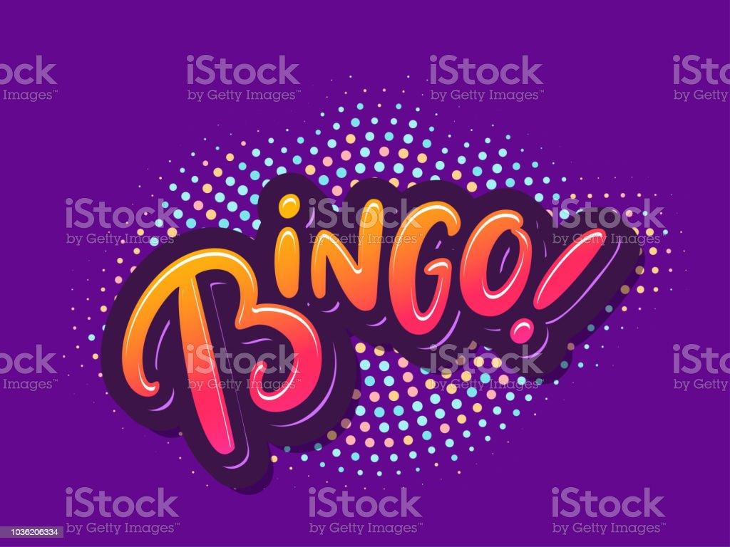 Bingo. Letras de vetor. - ilustração de arte em vetor