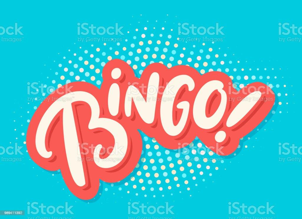 Bingo. Vector lettering. vector art illustration