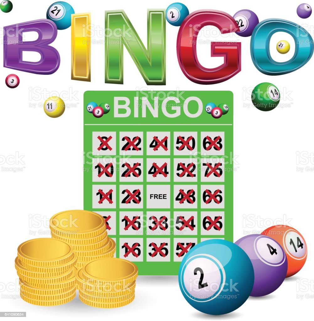 Bingo ganador - ilustración de arte vectorial