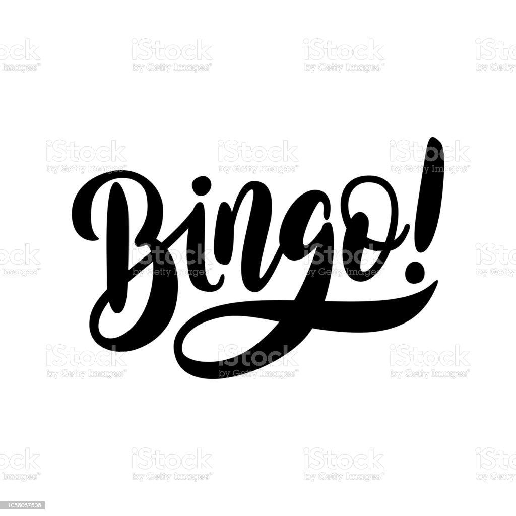 Palabra de bingo. Lotería de diseño gráfico gana ilustración de concepto casino banner Vector - ilustración de arte vectorial