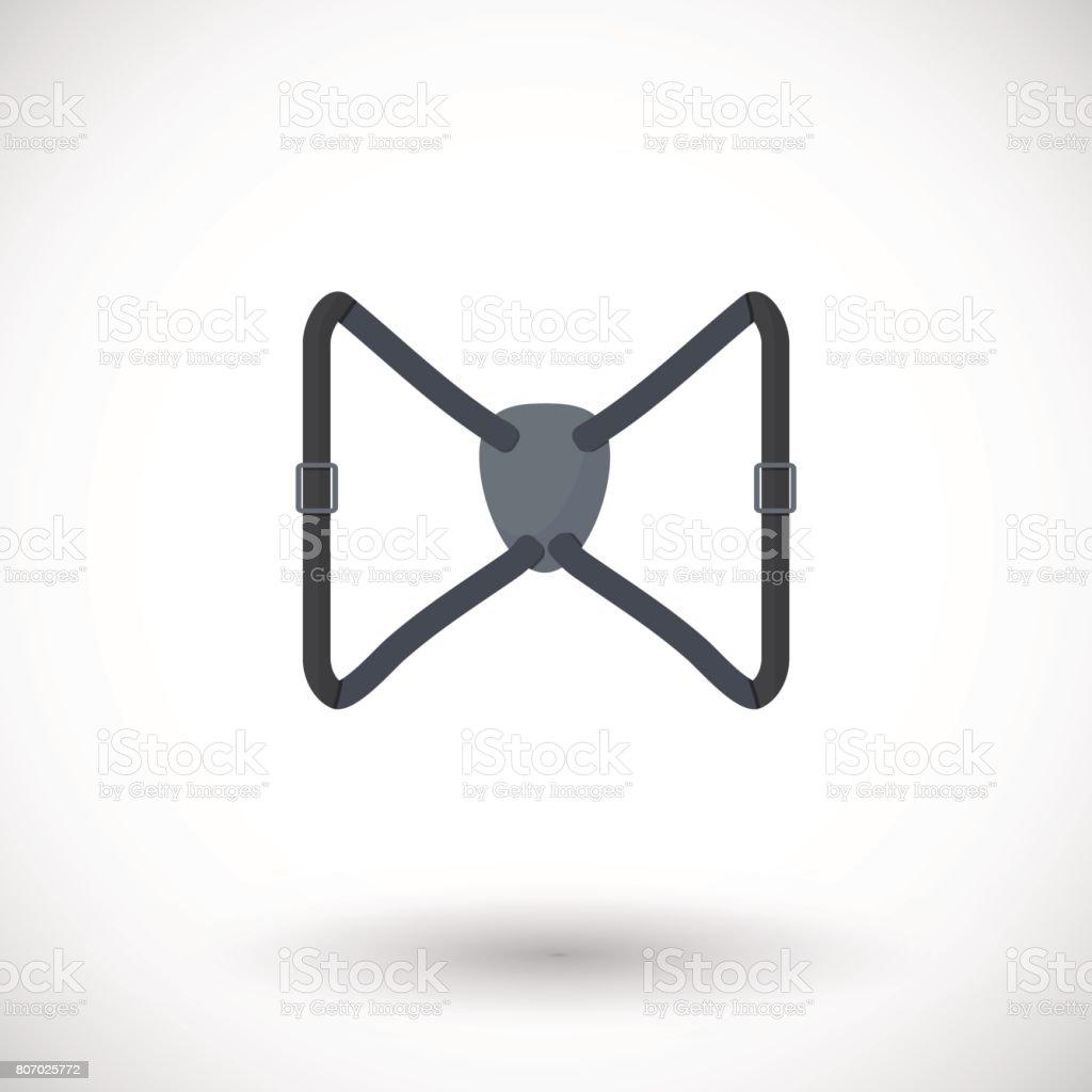 Binocular harness strap vector flat icon vector art illustration