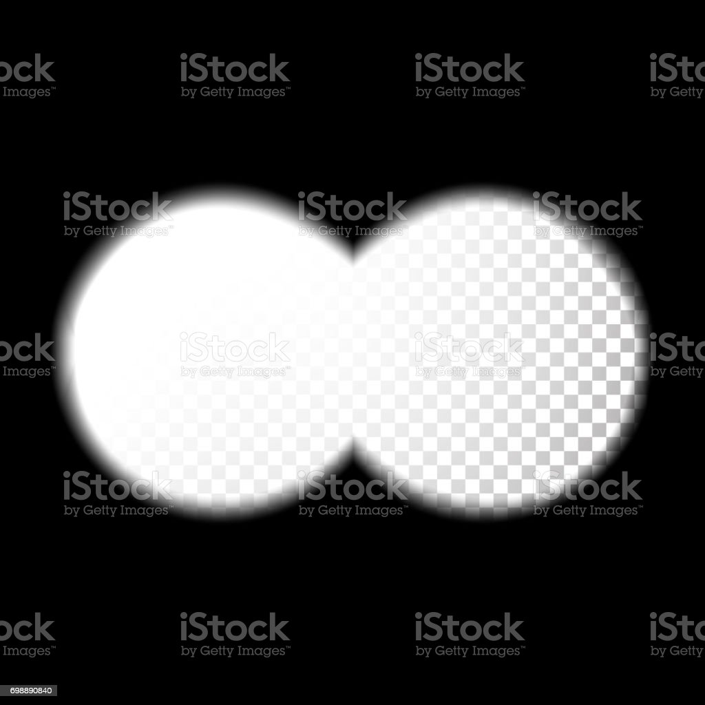 Binocular Sight View Vector. Design Search Concept For Web, Graphic Design. Soft Edges. Transparent Background vector art illustration