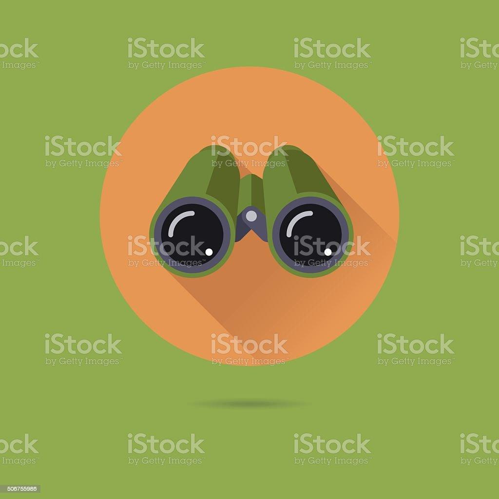 Binoculars Flat Design Vector Icon vector art illustration
