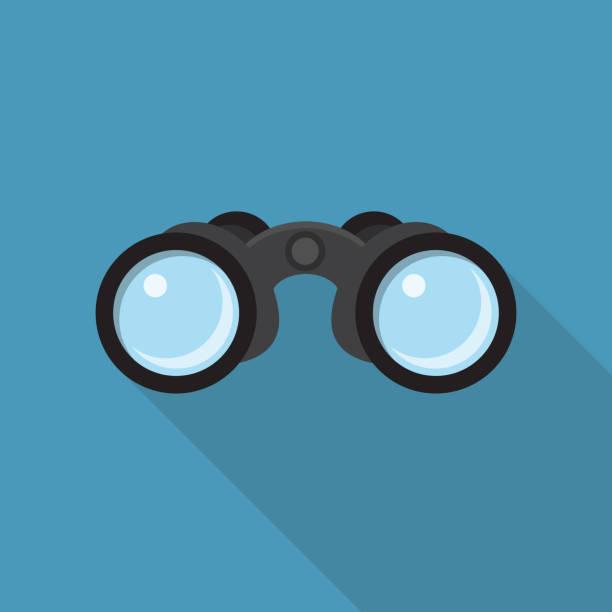 Binoculars Flat Design Binoculars Flat Design with Long Shadow binoculars stock illustrations
