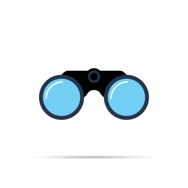 Binoculars icon symbol flat style with shadow. Binoculars icon symbol flat style with shadow. Simple design binoculars stock illustrations