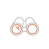 istock Binoculars Icon with Editable Stroke 1288088276