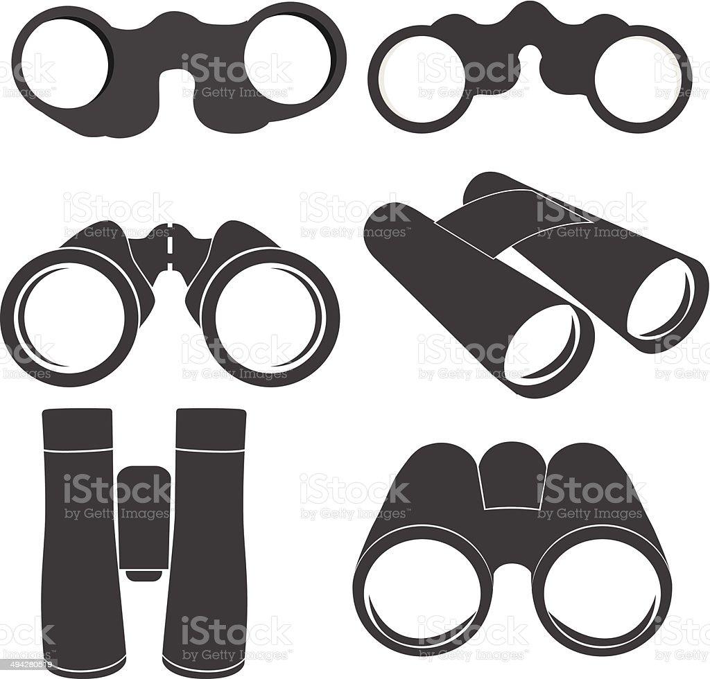 Binoculars icons vector art illustration