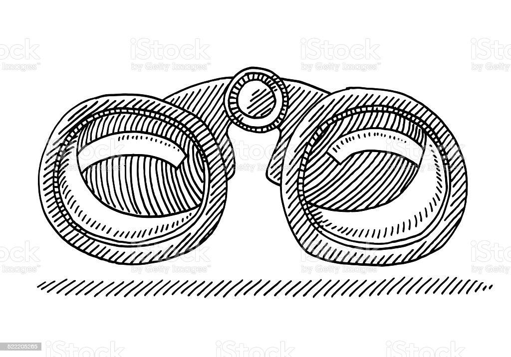 symbole vue de face de dessin une paire de jumelles cliparts vectoriels et plus d 39 images de. Black Bedroom Furniture Sets. Home Design Ideas