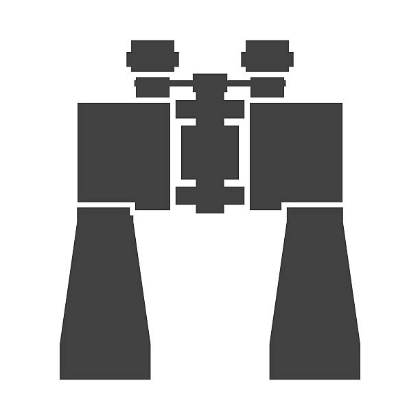 binoculars vector icon - bird watching stock illustrations, clip art, cartoons, & icons