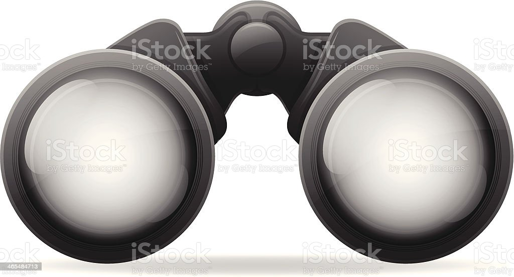 Binoculars vector art illustration