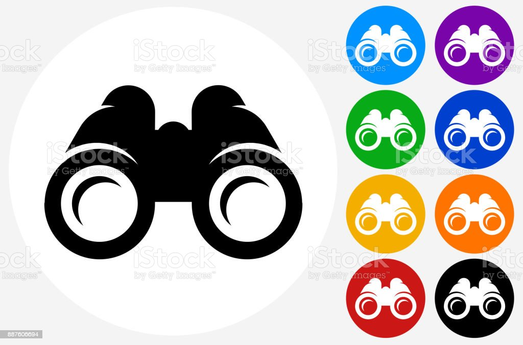 Binoculars. vector art illustration