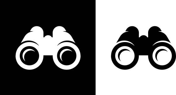 Binoculars. vector art illustration