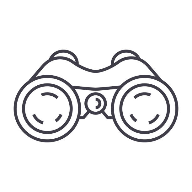 binoculars,periscope,vision vector line icon, sign, illustration on background, editable strokes binoculars,periscope,vision vector line icon, sign, illustration on white background, editable strokes curiosity stock illustrations