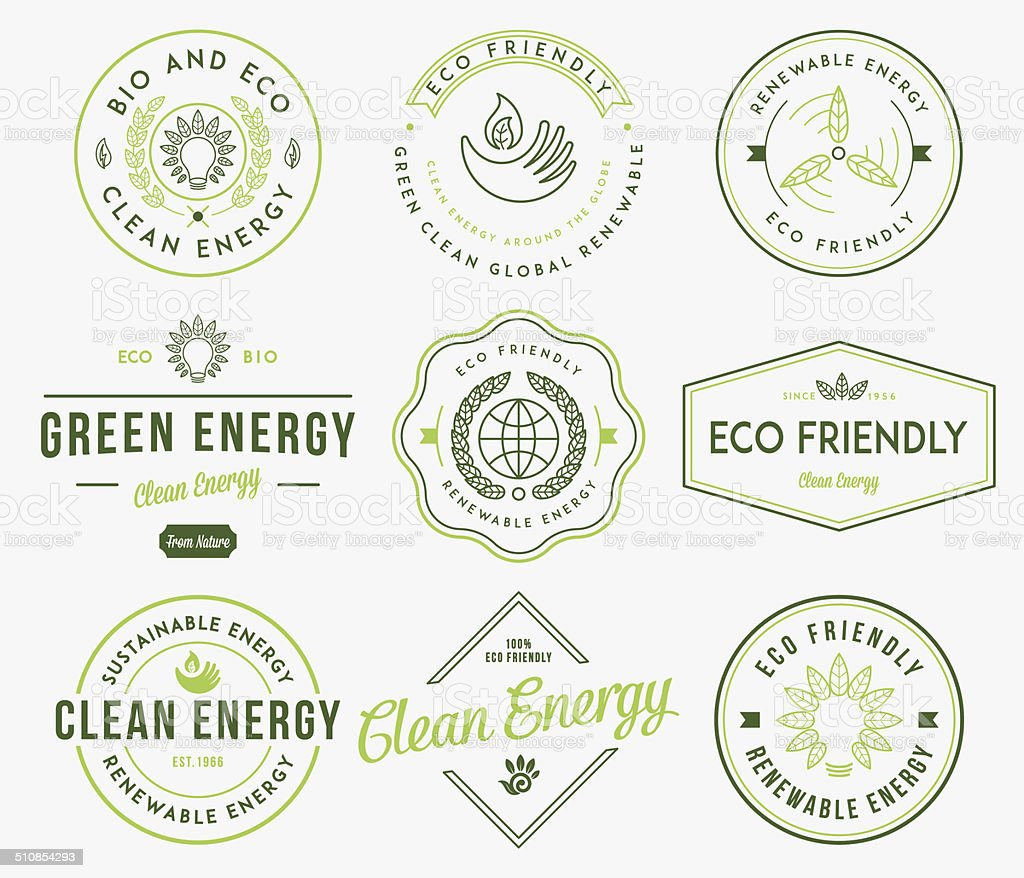 Bio and Eco Energy 1 Colored vector art illustration