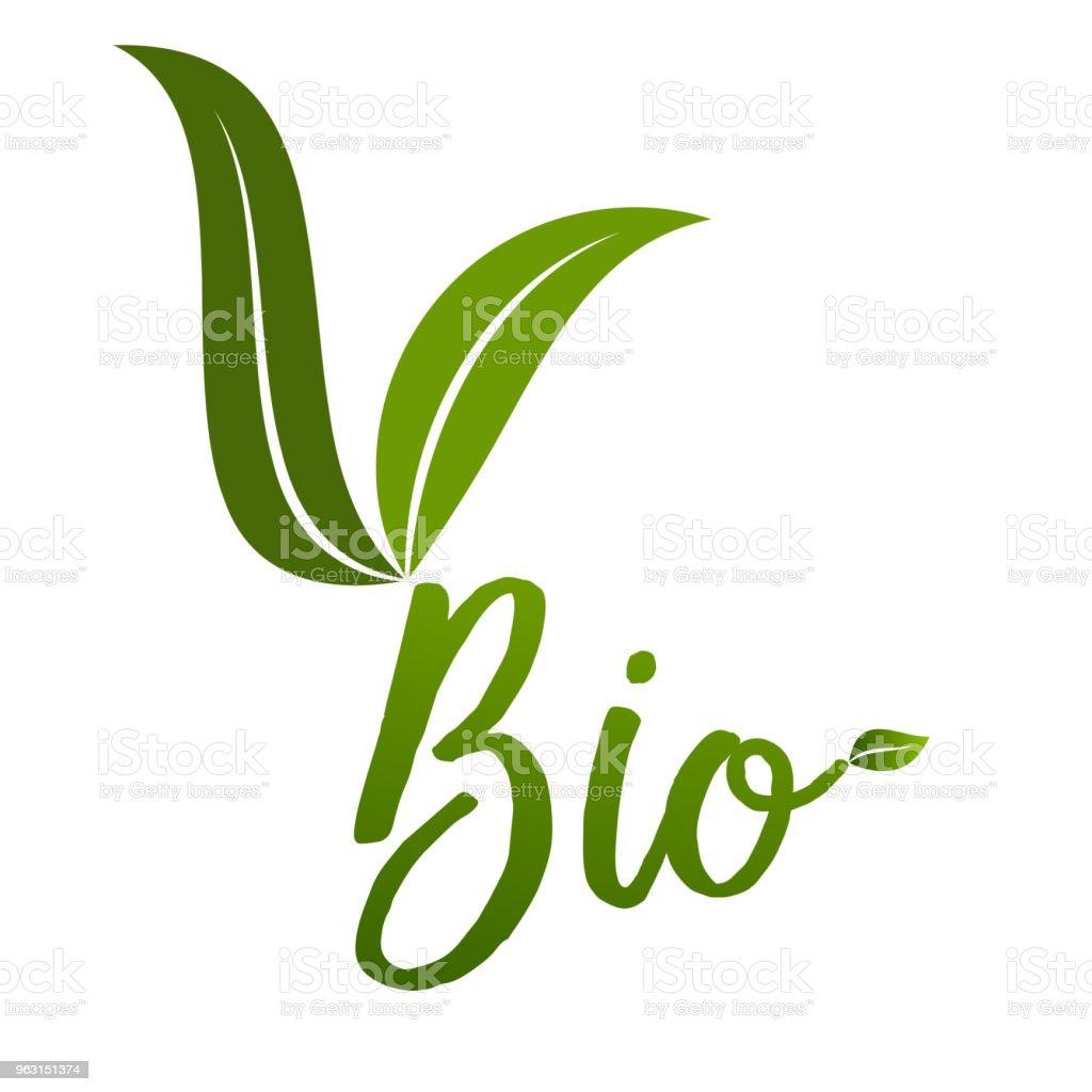 バイオ エコロジー アイコン ラベル。 - アイコンのロイヤリティフリーベクトルアート