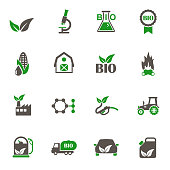 biofuel icons. set of 16 high quality biofuel vector icons in two color for web, mobile and user interface design