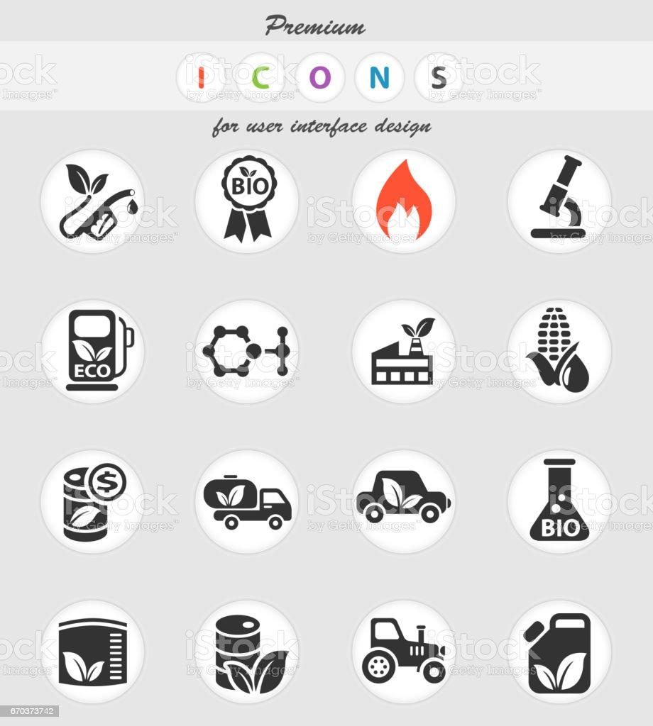 bio fuel icon set vector art illustration