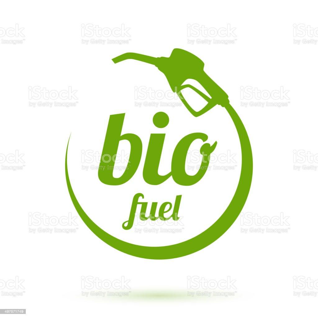 Bio fuel icon vector art illustration