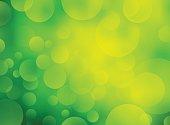 bio green background with bokeh