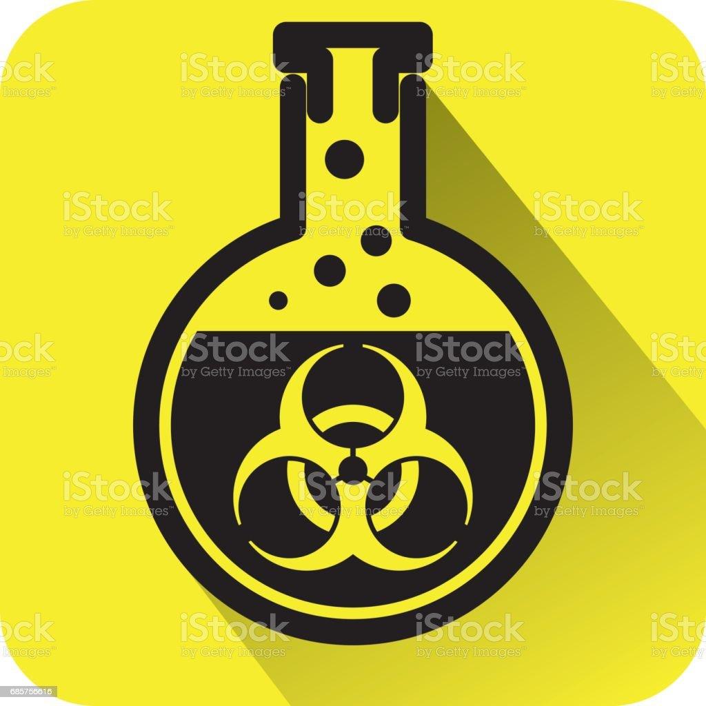 Bio hazard warning sign bio hazard warning sign - stockowe grafiki wektorowe i więcej obrazów badania royalty-free