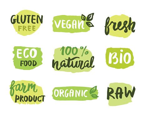 Bio Natural Food Concept - Immagini vettoriali stock e altre immagini di Agricoltura