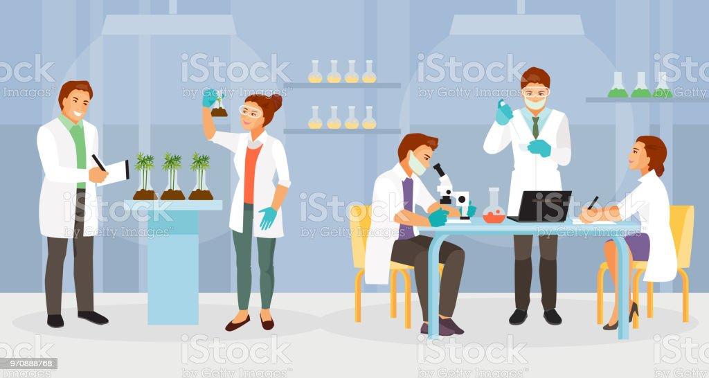 Biochemical laboratory vector biochemical laboratory vector - immagini vettoriali stock e altre immagini di analizzare royalty-free