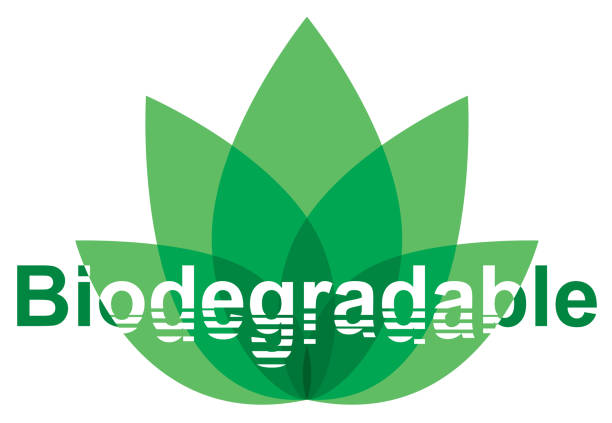 illustrazioni stock, clip art, cartoni animati e icone di tendenza di biodegradable environmental conservation logo - composting