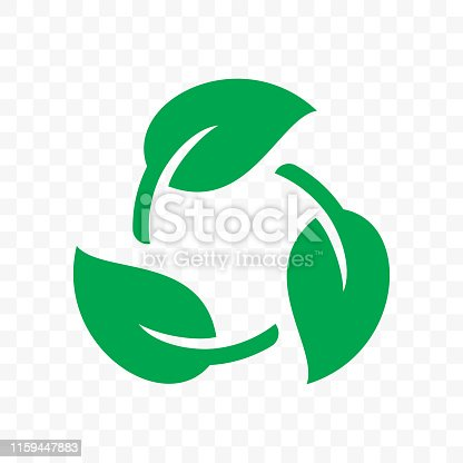istock Biodegradable recyclable plastic free package icon. Vector bio recyclable degradable label logo template 1159447883