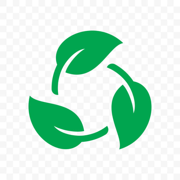 biodegradable recyclable plastic free package icon. vector bio recyclable degradable label logo template - sustainability stock illustrations
