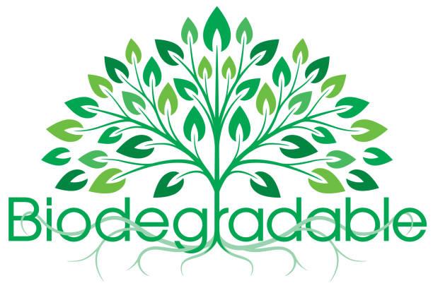 illustrazioni stock, clip art, cartoni animati e icone di tendenza di biodegradable symbol - composting