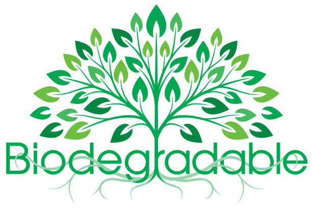 biodegradable symbol - composting stock illustrations