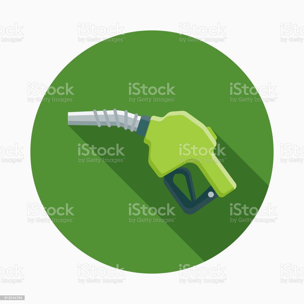 Biofuel Flat Design Environmental Icon vector art illustration