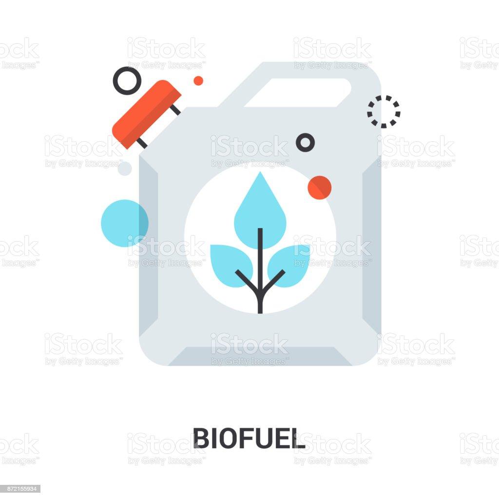 biofuel icon concept vector art illustration
