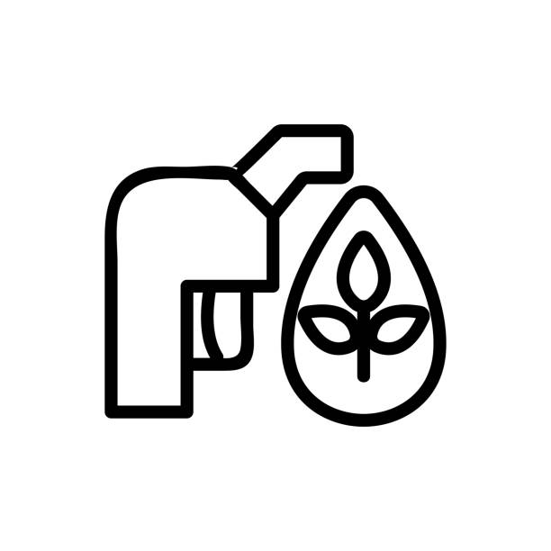 biofuel Icon vector. Isolated contour symbol illustration biofuel Icon vector. Thin line sign. Isolated contour symbol illustration canadian football league stock illustrations