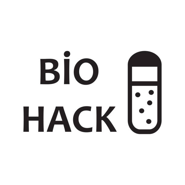 biohacking concept with test tube. vector design illustration. biohacking concept with test tube. vector design illustration biohacking stock illustrations