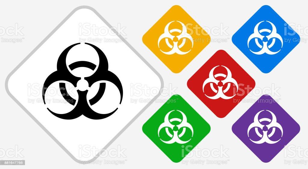 Biohazard Color Diamond Vector Icon Stock Vector Art More Images
