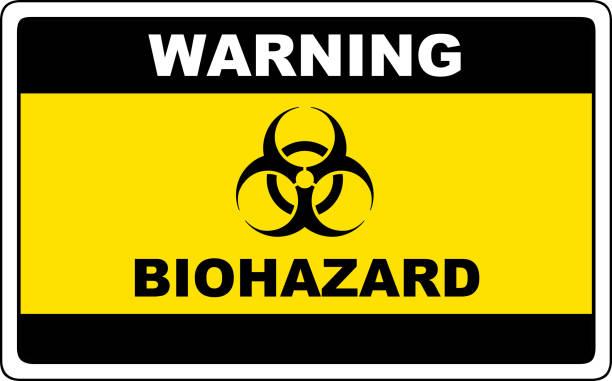 Biohazard, danger sign warning Biohazard, danger sign warning, vector dangerous symbol. biohazard symbol stock illustrations