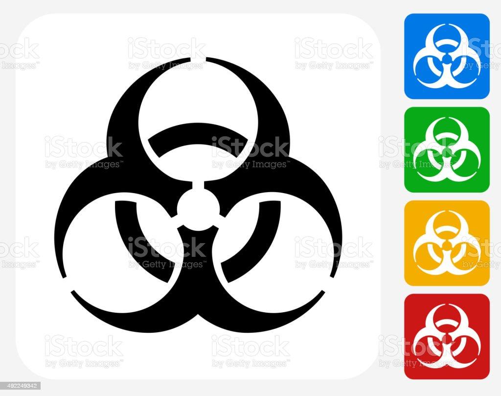 Biohazard Icon Flat Graphic Design vector art illustration