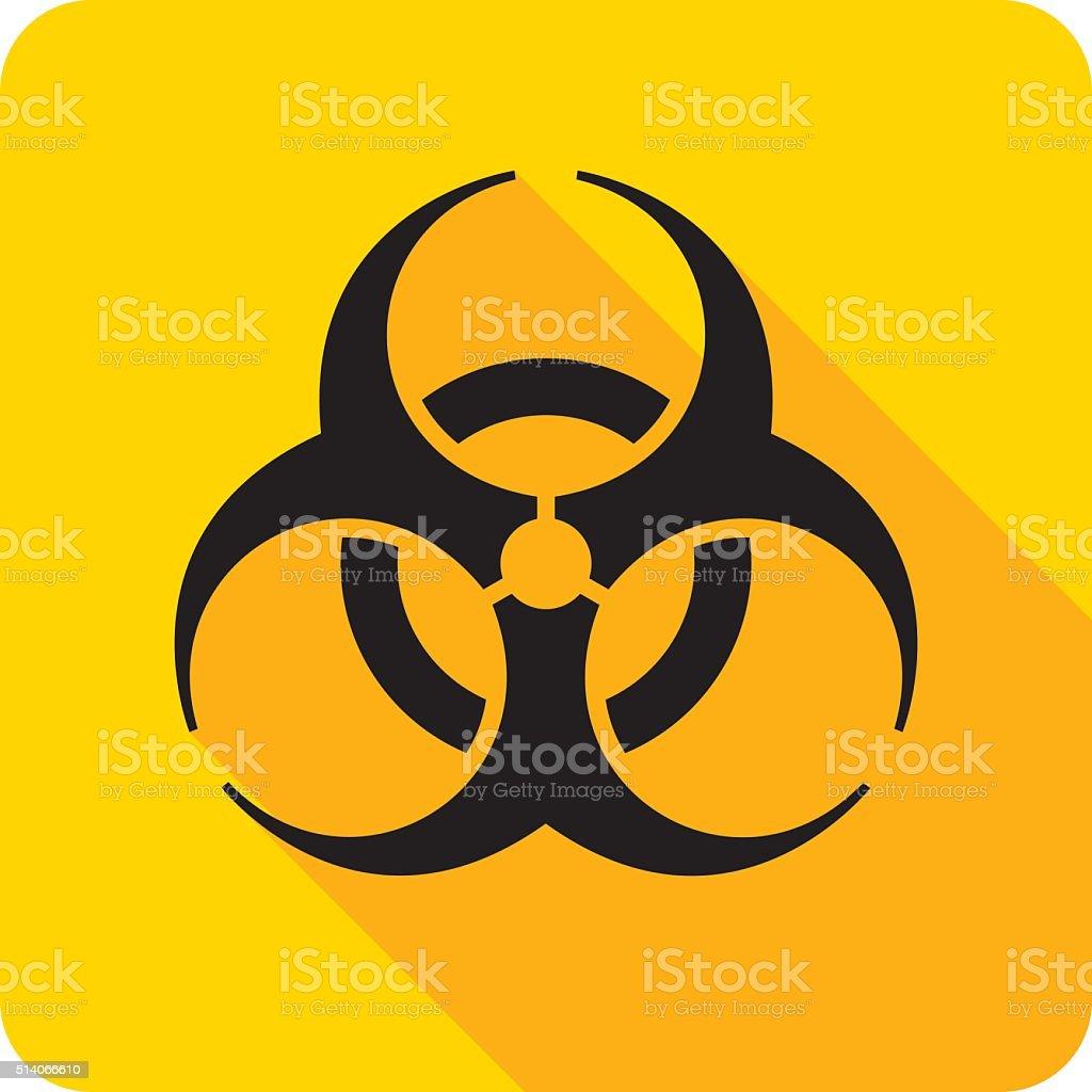 Biohazard Icon Silhouette vector art illustration
