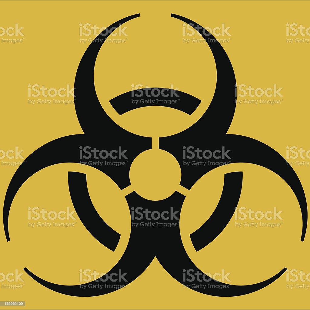 Biohazard icon vector art illustration