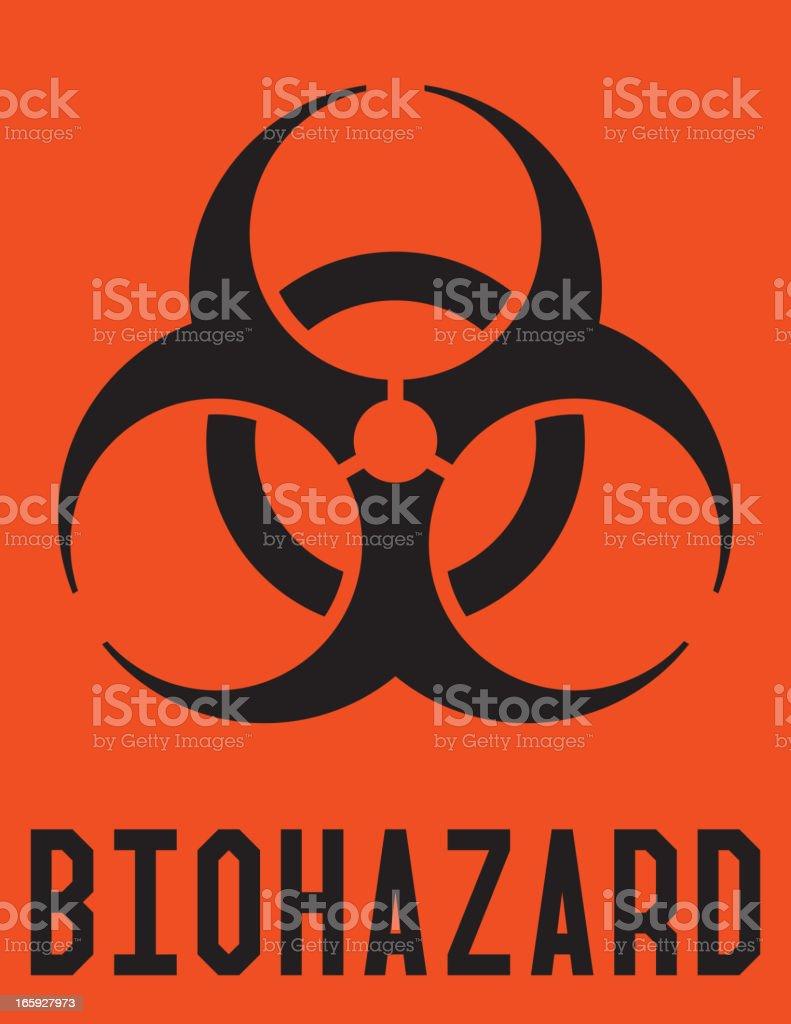 Biohazard Label vector art illustration