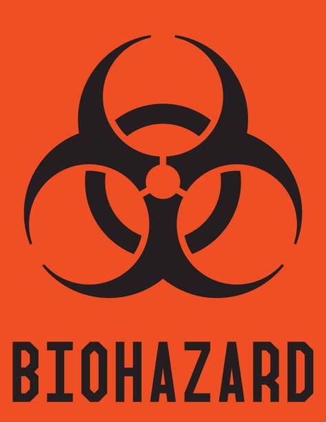 Biohazard Label Biohazard label, zip contain hires jpg (6600x5100) biohazard symbol stock illustrations