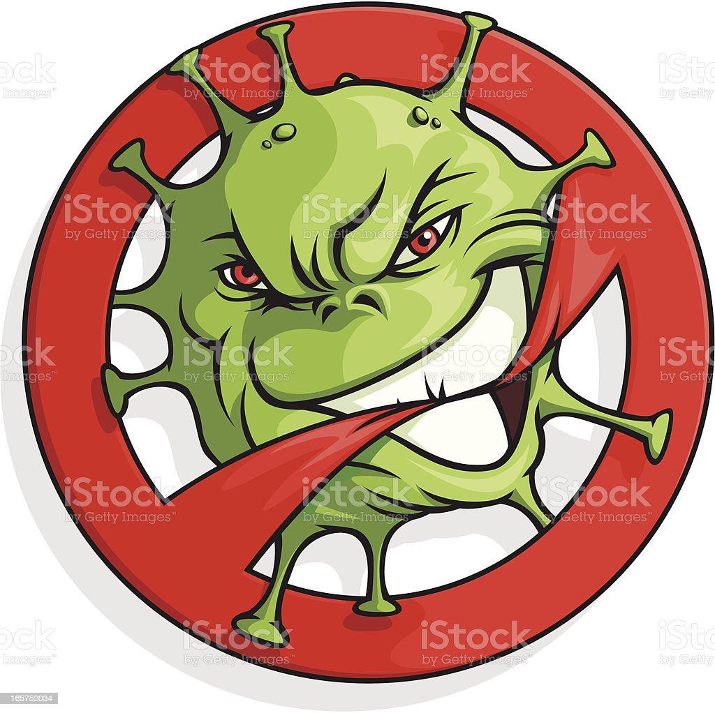 Biohazard Mascot royalty-free stock vector art