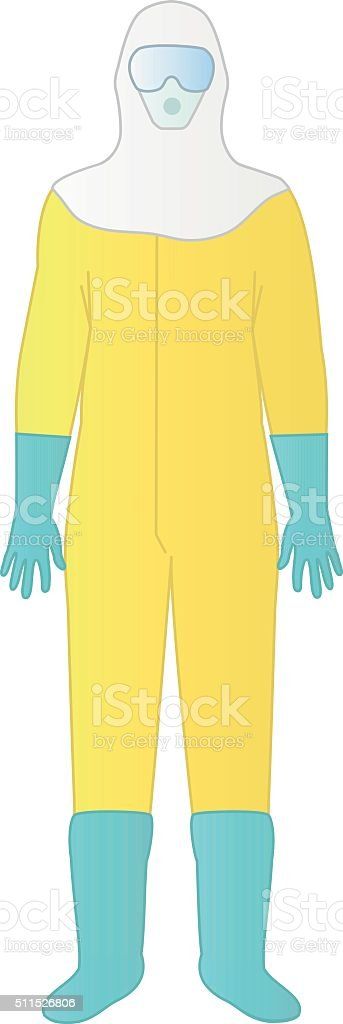 Bio-hazard protective and safety equipment vector art illustration