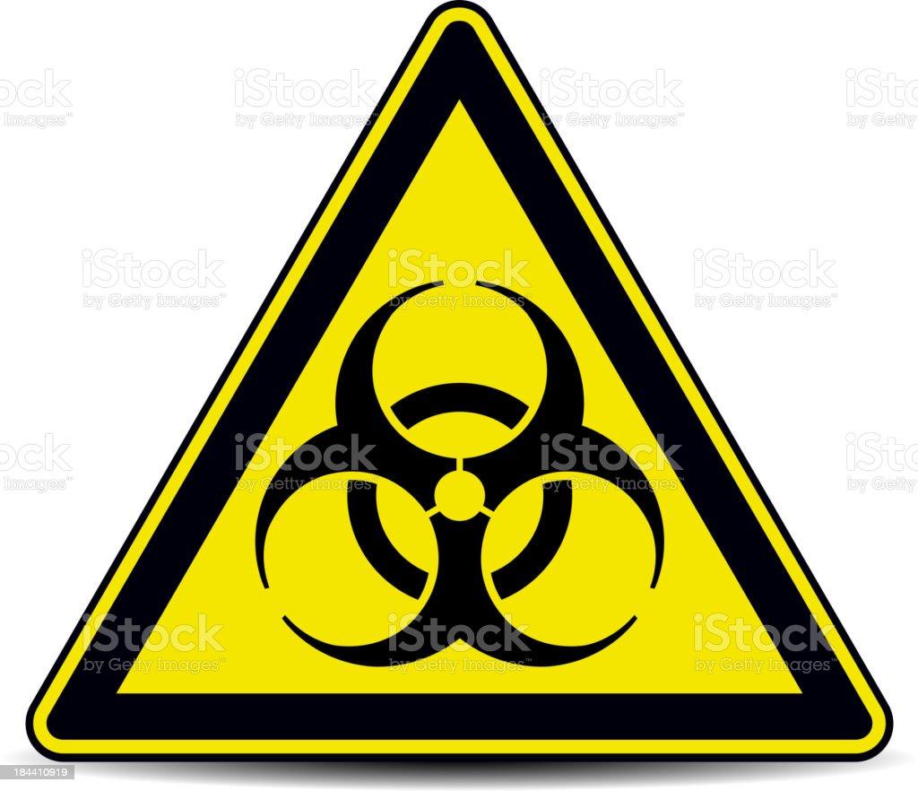 Biohazard, sign. vector art illustration